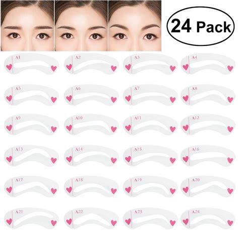 pcs eyebrow stencil set diverse shapes plastic eye brow