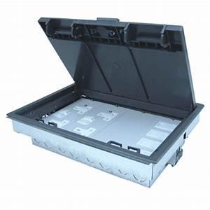Floor boxes floor boxes floor grommets power videk for 4 compartment floor box