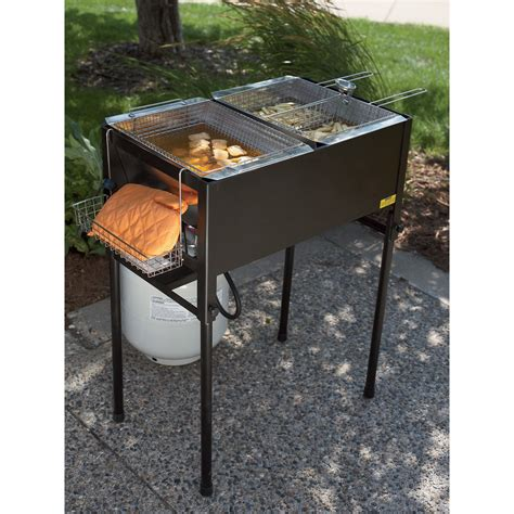 fryer deep propane basket outdoor triple fryers cooking kitchener kitchen three commercial fish baskets northerntool frying kotulas grill northern tool
