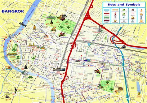 bangkok thailand attractions map chinatown bangkok