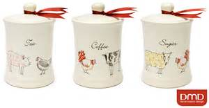 kitchen tea coffee sugar canisters colour farm animals ceramic tea coffee sugar kitchen storage canisters set ebay