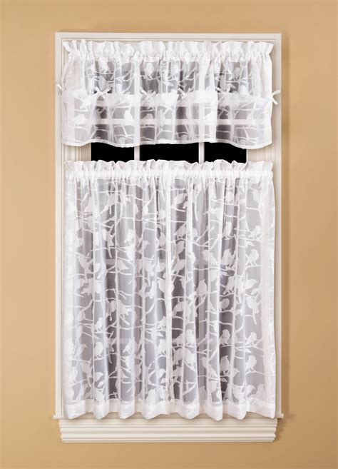 Kmart Kitchen Tier Curtains by Essential Home Chickadee Tiered Curtain Home Home