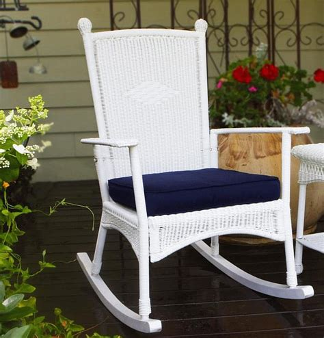 portside classic rocking chair psr c white wicker rocking