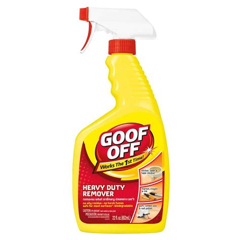 Living Room Furniture Walmart by Goof Off 22 Oz Heavy Duty Spot Remover And Degreaser