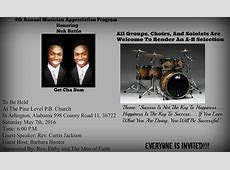 4th Annual Musician Appreciation Program Honoring Nuk