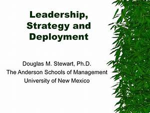 10 Leadership, Strategy And Deployment