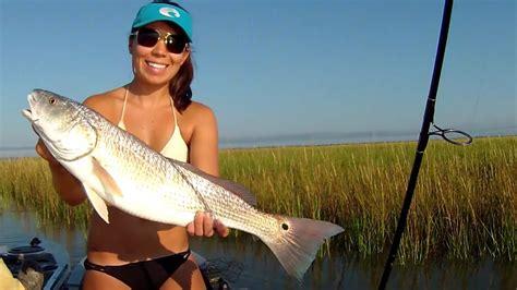 redfish fishing kayak marsh