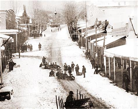 grass valley tobogganing  main street historical