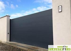 Portail En Aluminium : portail design coulissant aluminium prix direct usine ~ Melissatoandfro.com Idées de Décoration