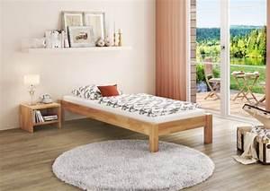 Bett Holz 90x200 : buche bett futonbett einzelbett 90x200 massivholzbett natur rollrost einzelbetten ~ Markanthonyermac.com Haus und Dekorationen