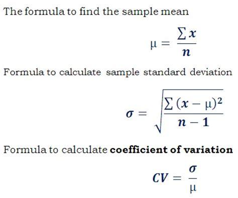Formule Cv by Coefficient Of Variation Calculator