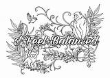 Affirmations Coloring Adult Behance sketch template