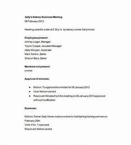business meeting letter sample the best letter sample With company meeting minutes template