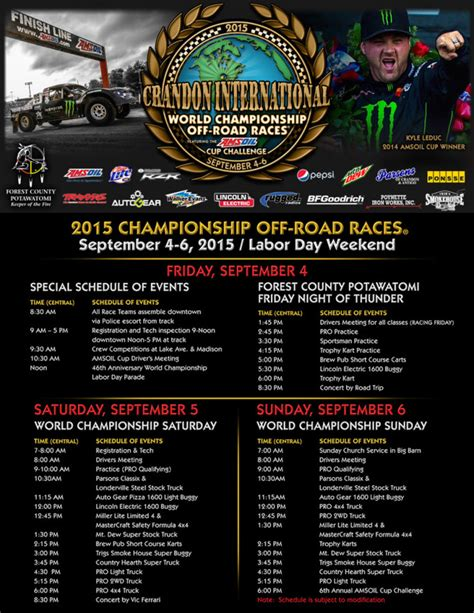 You can find the list of vic ferrari tour dates here. Crandon International Releases Packed Schedule For 46th Labor Day Weekend - race-deZert.com ...