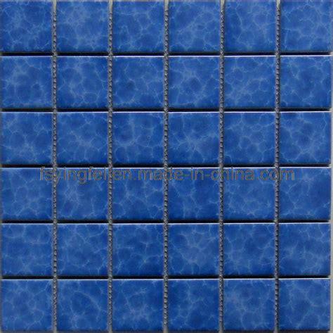 swimming pool tile china blue glazed mosaic swimming pool tile y48k03