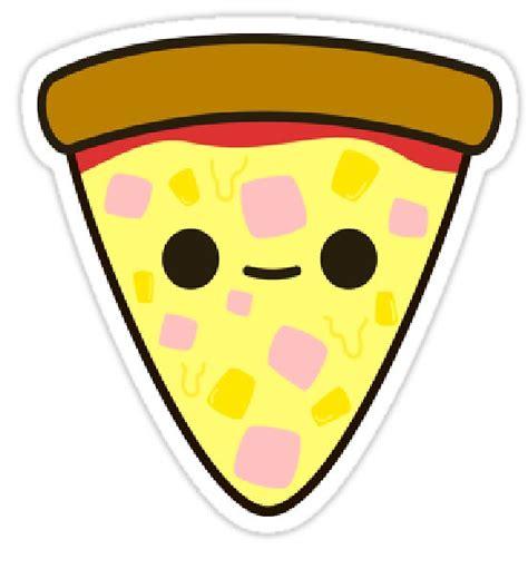 """kawaii Pizza "" Stickers By Zyanwindlearts Redbubble"