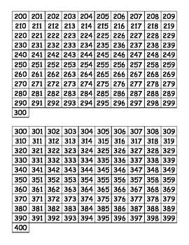 printable hundreds charts   hundreds chart number