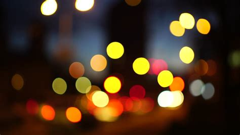 traffic lights  night defocused stock footage video