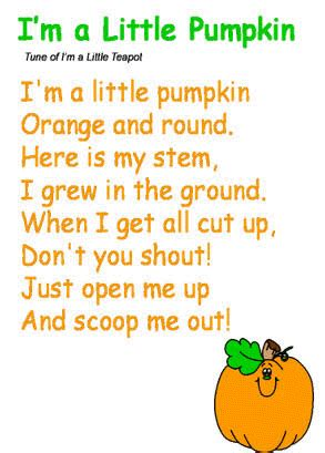 halloween preschool songs quot i m a pumpkin quot song to the tune of quot i m a 310