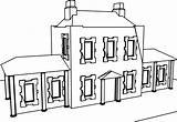 Mansion Coloring Wecoloringpage sketch template