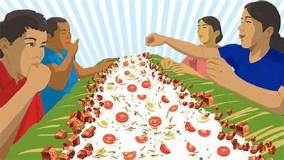 Kamayan Pride Eating Pinoy Practice Filipino Rappler