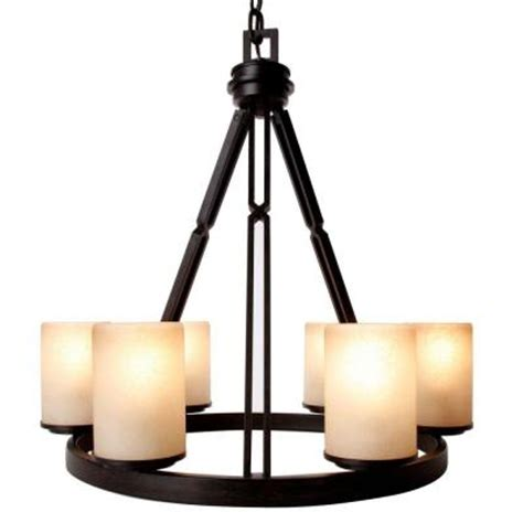 hton bay alta loma 6 light bronze ridge chandelier