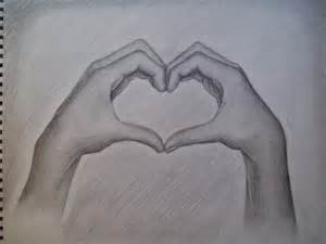 Hand Heart Drawing