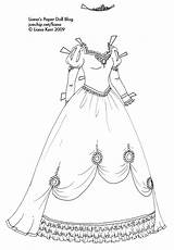 Coloring Princess Gown Paper Pages Dolls Doll Ball Clothes Gowns Liana Dresses Colouring Drawing Barbie Fancy Printable Jp Google Outline sketch template