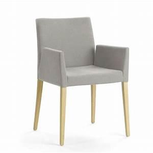 Fauteuil Bois Et Tissu : fauteuil de salon en bois et tissu slim mobitec 4 pieds tables chaises et tabourets ~ Teatrodelosmanantiales.com Idées de Décoration