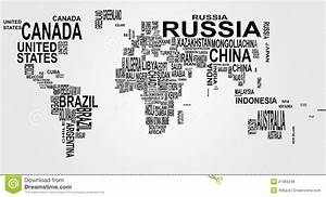 World Map With Country Name Stock Vector - Illustration of ...