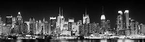 Bild New York Schwarz Weiß : dekorationsmaterial banner new york skyline by night ~ Bigdaddyawards.com Haus und Dekorationen