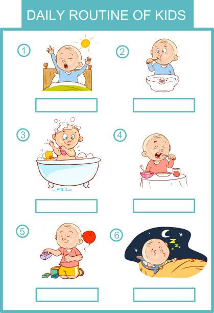 top  morning routine clip art vector graphics