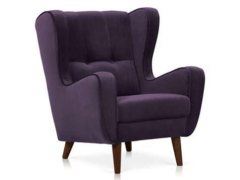 fauteuil en tissu velours coloris violet vente de tous les fauteuils conforama