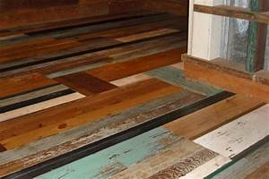 The trendy painted reclaimed wood flooring adorable home for How to paint wood floors diy network