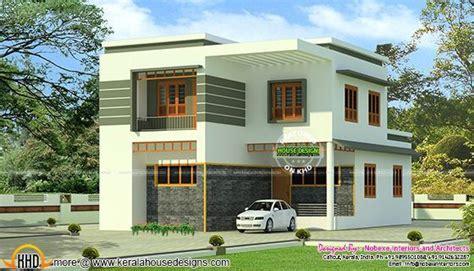bhk modern flat roof home   sq ft kerala home