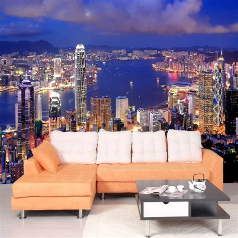 high quality modern  city night view custom photo