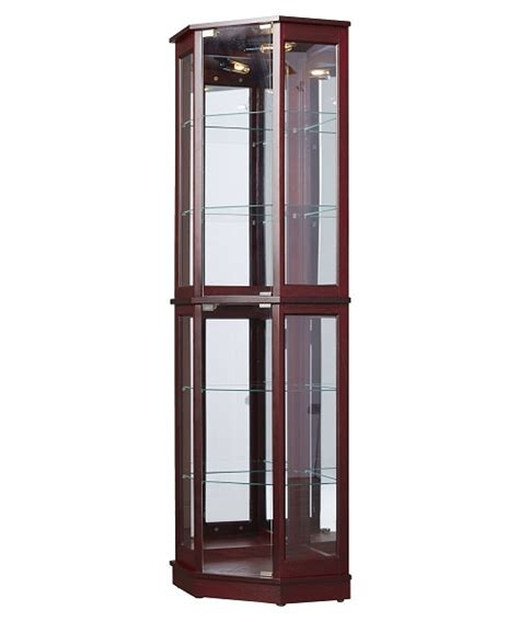 glass curio cabinet with lights floor standing corner curio cabinet glass mirrored back