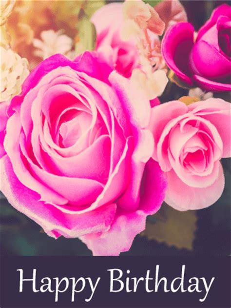 superb pink rose birthday card birthday greeting cards