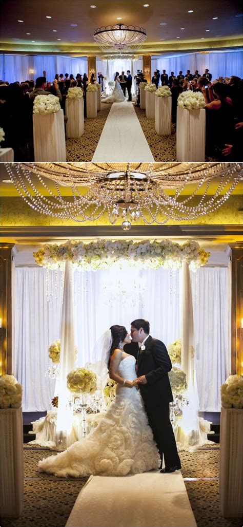 Beautiful Persian American Wedding Ceremony Aisle By