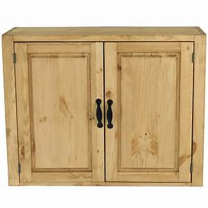 Meuble Cuisine Haut : meuble haut en pin massif pour cuisine 2 portes 120 cm grenier alpin ~ Teatrodelosmanantiales.com Idées de Décoration