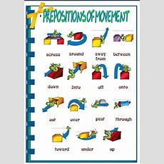 Prepositions Of Movement Picture Dictionary