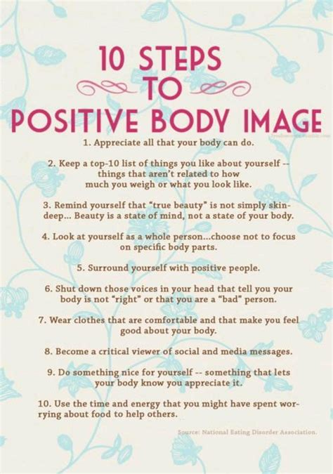 10 Steps To A Positive Body Image  Slimdown With Sandee