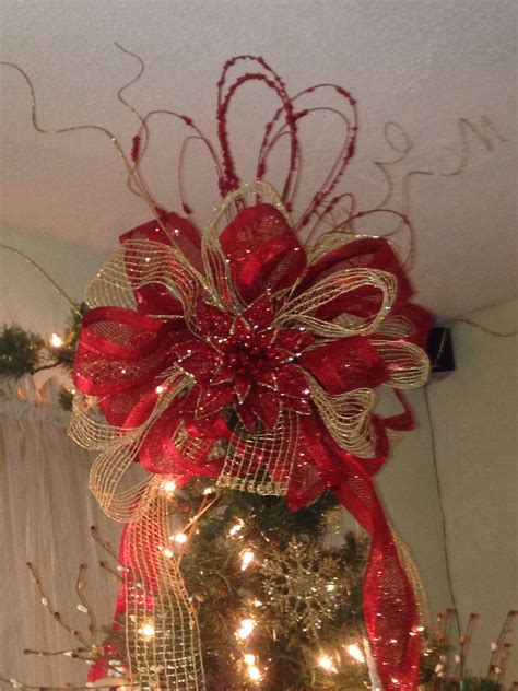 ribbon tree topper christmas pinterest tree toppers