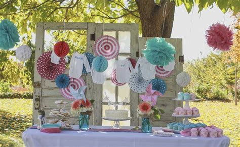 rustic gender reveal pretty  party