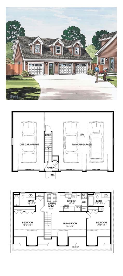 apartments garages floor plan garage apartment plan 30032 total living area 887 sq