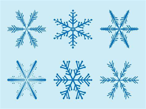 snowflakes vectors vector art graphics freevectorcom