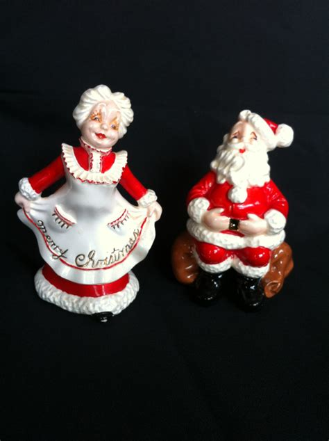 ceramic santa and mrs claus figurines by atlantic mold