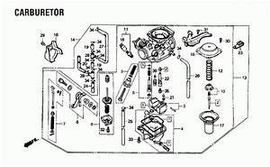1987 Honda Rebel 250 Cmx250c Carburetor Parts