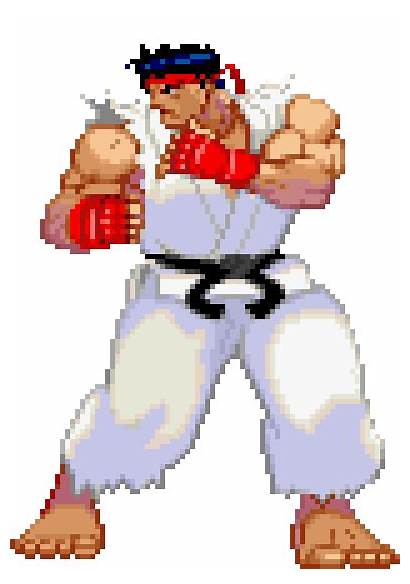 Fighter Street Pixel Ryu Fighting Characters Bit