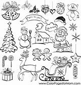 Christmas Coloring Collage Pages Adult Adults Print Colorpagesformom Coloringpages sketch template